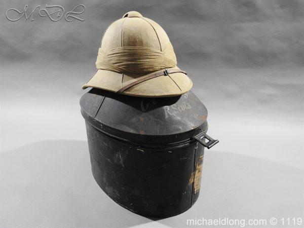 michaeldlong.com 4949 600x450 Royal Scots Guards Officer's Wolseley Helmet