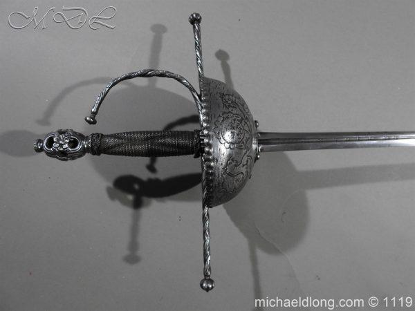 michaeldlong.com 4981 600x450 Spanish Cup Hilt Rapier c 1680