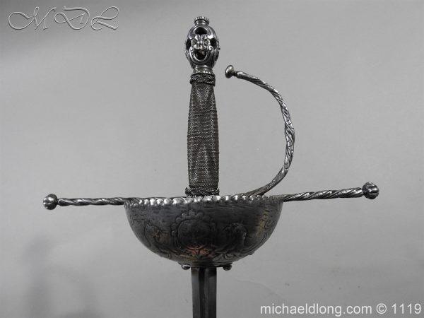 michaeldlong.com 4989 600x450 Spanish Cup Hilt Rapier c 1680