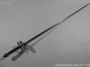 German Duelling Sword c 1675