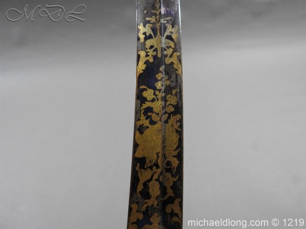 michaeldlong.com 5333 600x450 1796 Blue and Gilt Officer's Sword