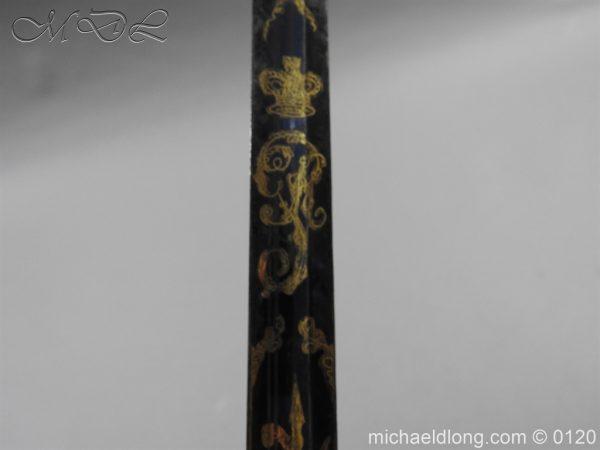 michaeldlong.com 5803 600x450 1796 British Blue and Gilt Infantry Officer's Sword