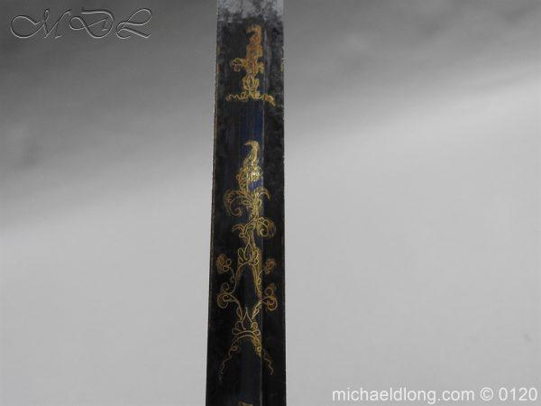 michaeldlong.com 5804 600x450 1796 British Blue and Gilt Infantry Officer's Sword