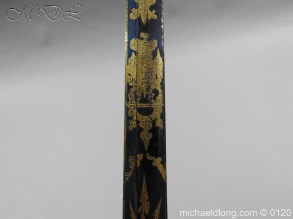 michaeldlong.com 5809 600x450 1796 British Blue and Gilt Infantry Officer's Sword