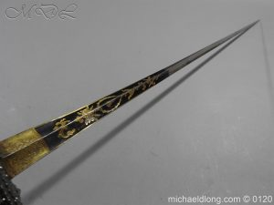 michaeldlong.com 6054 300x225 English Blue and Gilt Small Sword by Jeffery c 1780