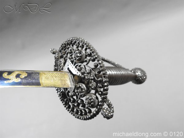 michaeldlong.com 6071 600x450 English Blue and Gilt Small Sword by Jeffery c 1780