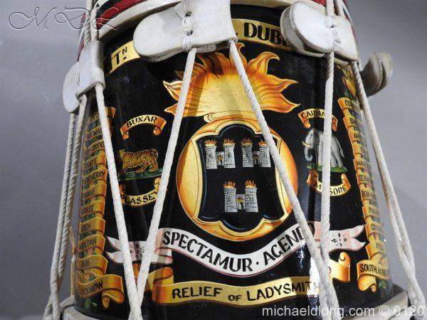 michaeldlong.com 6107 600x450 1st Battn Royal Dublin Fusiliers Regimental Drum by Henry Potter