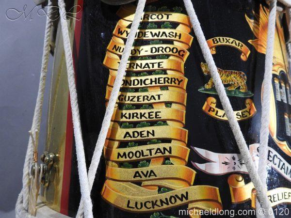 michaeldlong.com 6108 600x450 1st Battn Royal Dublin Fusiliers Regimental Drum by Henry Potter