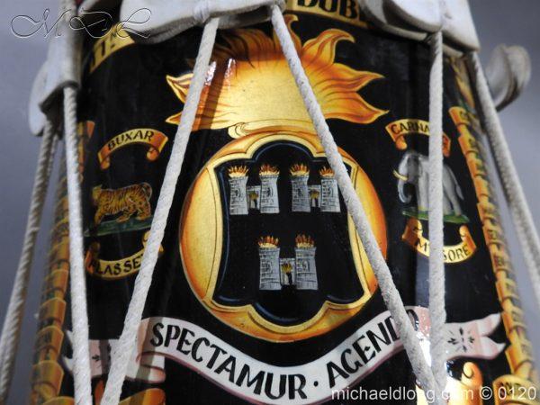 michaeldlong.com 6113 600x450 1st Battn Royal Dublin Fusiliers Regimental Drum by Henry Potter