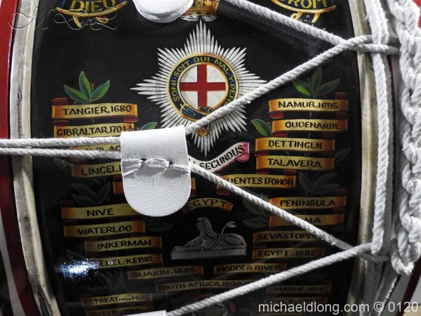 michaeldlong.com 6125 600x450 1st Battalion Coldstream Guards Brass Drum