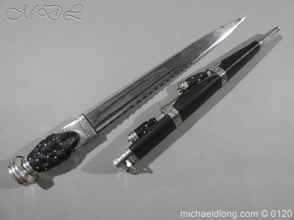 michaeldlong.com 6145 600x450 Scottish Silver Mounted Dirk