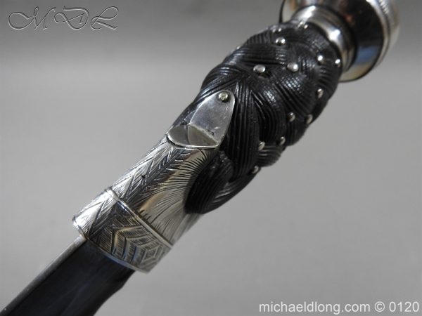 michaeldlong.com 6158 600x450 Scottish Silver Mounted Dirk