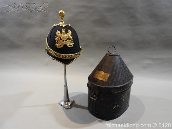 michaeldlong.com 6195 600x450 Royal Army Medical Corps Officer's Service Helmet Lt R Le Geyt Worsley