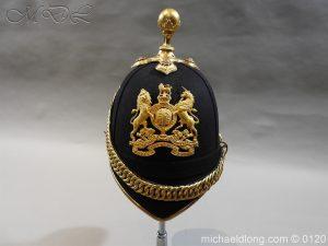 michaeldlong.com 6200 300x225 Royal Army Medical Corps Officer's Service Helmet Lt R Le Geyt Worsley