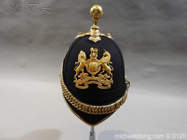 michaeldlong.com 6200 600x450 Royal Army Medical Corps Officer's Service Helmet Lt R Le Geyt Worsley