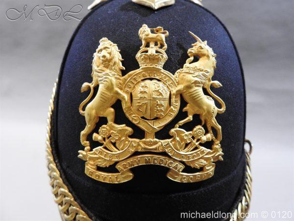 michaeldlong.com 6201 600x450 Royal Army Medical Corps Officer's Service Helmet Lt R Le Geyt Worsley