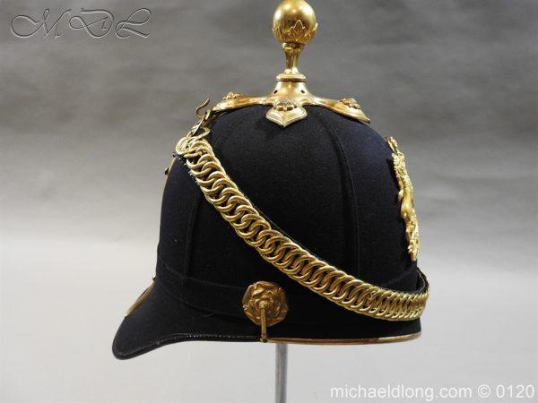 michaeldlong.com 6203 600x450 Royal Army Medical Corps Officer's Service Helmet Lt R Le Geyt Worsley