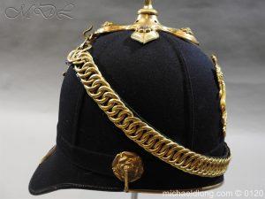 michaeldlong.com 6204 300x225 Royal Army Medical Corps Officer's Service Helmet Lt R Le Geyt Worsley