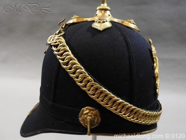 michaeldlong.com 6204 600x450 Royal Army Medical Corps Officer's Service Helmet Lt R Le Geyt Worsley