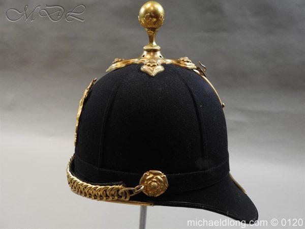 michaeldlong.com 6208 600x450 Royal Army Medical Corps Officer's Service Helmet Lt R Le Geyt Worsley