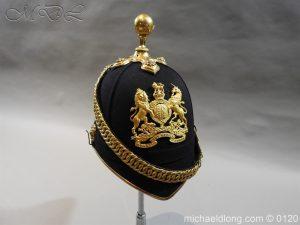 michaeldlong.com 6214 300x225 Royal Army Medical Corps Officer's Service Helmet Lt R Le Geyt Worsley