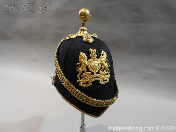 michaeldlong.com 6214 600x450 Royal Army Medical Corps Officer's Service Helmet Lt R Le Geyt Worsley