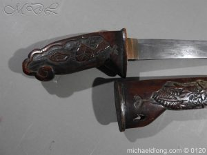 michaeldlong.com 6278 300x225 Japanese Tanto in Curved Wood Mounts