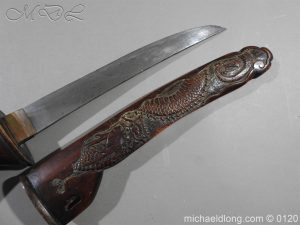 michaeldlong.com 6279 300x225 Japanese Tanto in Curved Wood Mounts