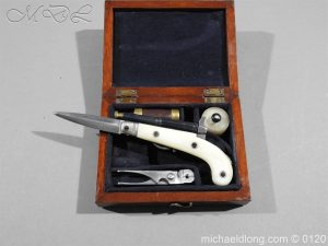 Miniature Knife Pistol Cased with Accessories