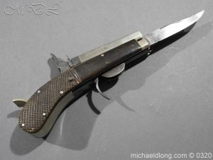 michaeldlong.com 7147 300x225 Unwin and Rodgers Rimfire Knife Pistol