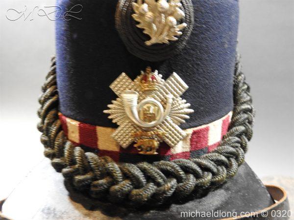 michaeldlong.com 7192 600x450 Scottish Highland Light Infantry Victorian Shako
