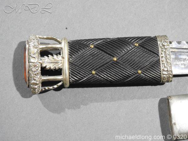 michaeldlong.com 7268 600x450 Gordon Highlanders Officer's Cased Dirk Set