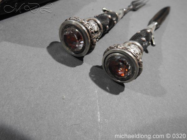 michaeldlong.com 7276 600x450 Gordon Highlanders Officer's Cased Dirk Set