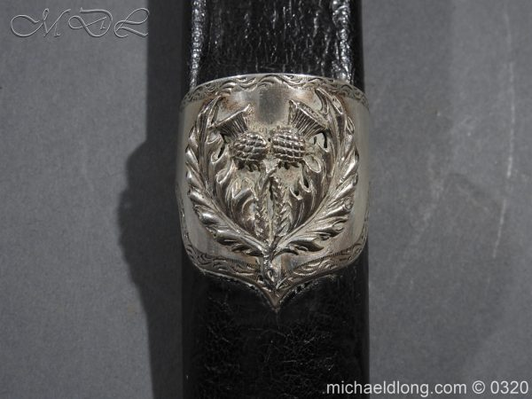 michaeldlong.com 7287 600x450 Gordon Highlanders Officer's Cased Dirk Set