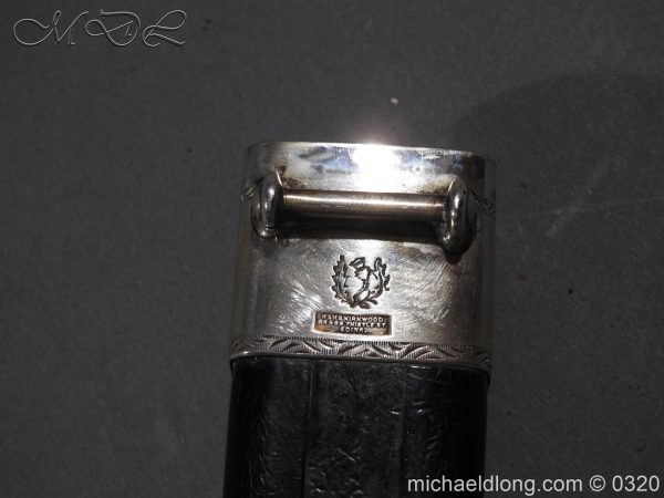 michaeldlong.com 7291 600x450 Gordon Highlanders Officer's Cased Dirk Set