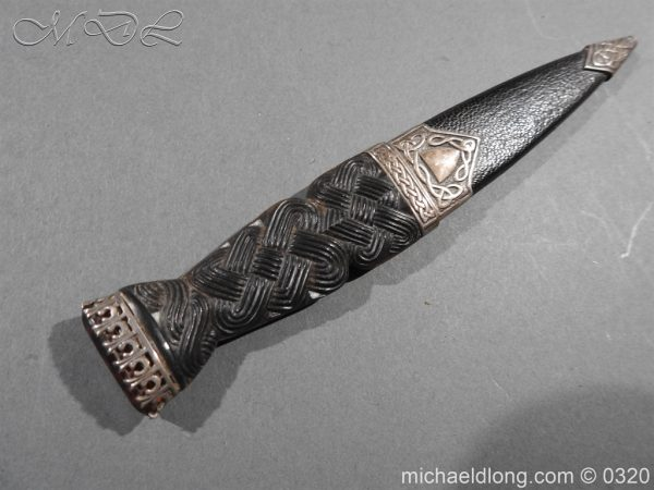 michaeldlong.com 7338 600x450 Scottish Silver Mounted Cased Dress Dirk