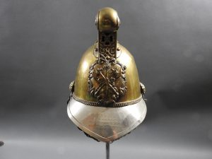 British Presentation Fire Helmet dated 1889