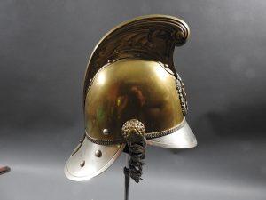 DSCN7229 300x225 British Presentation Fire Helmet dated 1889
