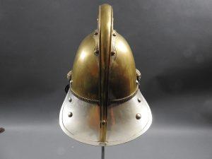 DSCN7230 300x225 British Presentation Fire Helmet dated 1889