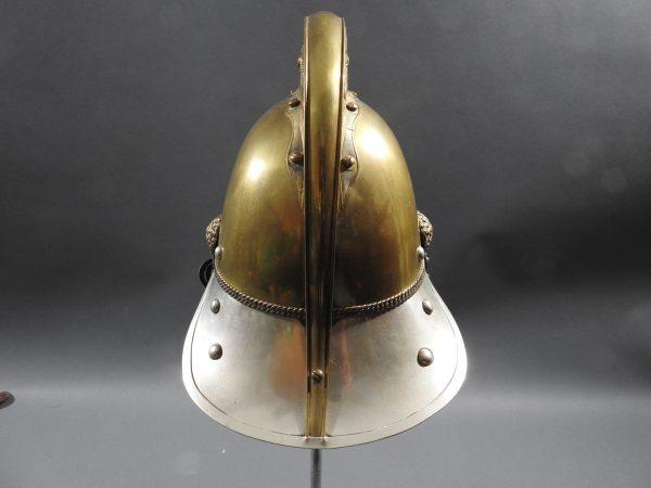 DSCN7230 600x450 British Presentation Fire Helmet dated 1889