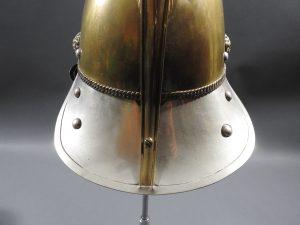 DSCN7231 300x225 British Presentation Fire Helmet dated 1889