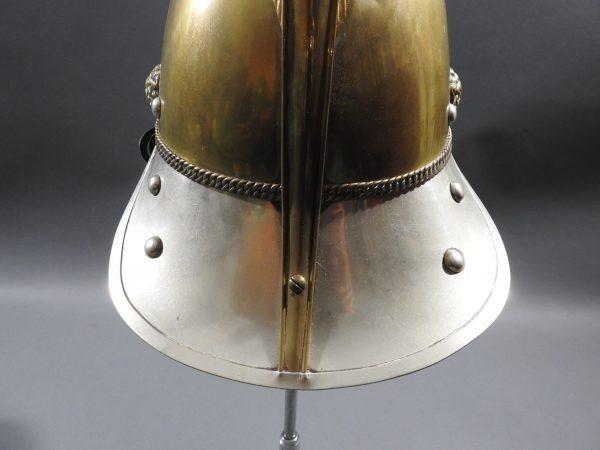 DSCN7231 600x450 British Presentation Fire Helmet dated 1889