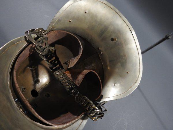 DSCN7236 600x450 British Presentation Fire Helmet dated 1889