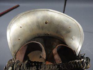 DSCN7237 300x225 British Presentation Fire Helmet dated 1889
