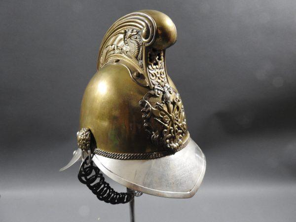 DSCN7241 600x450 British Presentation Fire Helmet dated 1889