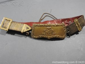 9th Lancers Officer's Full Dress Cross Belt and Pouch