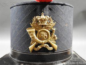 michaeldlong.com 7558 300x225 Victorian 36 Regiment Light Infantry Shako