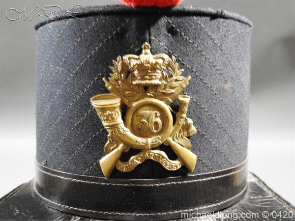 michaeldlong.com 7558 600x450 Victorian 36 Regiment Light Infantry Shako