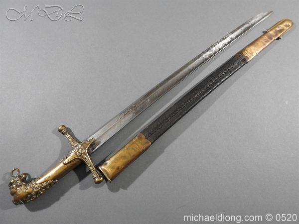 michaeldlong.com 8296 600x450 Duke of Wellingtons 33rd Regiment of Foot Band Sword circa 1800 33