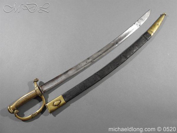 michaeldlong.com 8354 600x450 French 1821 30 Pattern Guard Nationale Infantry Sidearm 74
